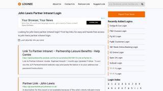 John Lewis Partner Intranet Login