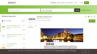 469 job ads in Geneva City found on jobup.ch
