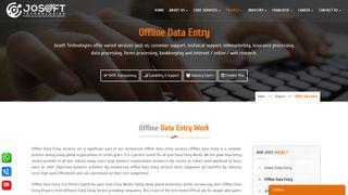 Offline Data Entry - Josoft Technologies