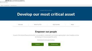 Human Resources Jobs & Internships | JPMorgan Chase & Co.