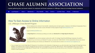 How To Gain Access to Online Information - Chase Alumni Association