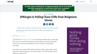 JPMorgan Is Pulling Chase ATMs from Walgreens Stores | Fortune
