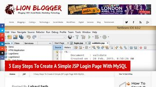 3 Easy Steps To Create A Simple JSP Login Page With MySQL