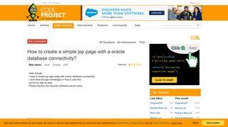 How to create a simple jsp page with a oracle database ...
