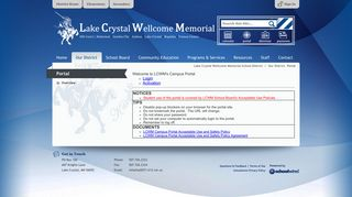 Portal / Overview - Lake Crystal Wellcome Memorial School District
