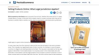 Selling Products Online: What Legal Jurisdiction Applies? | Practical ...