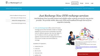 Online DTH recharge services   Just Recharge Now!