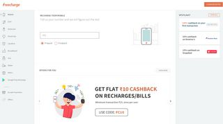 Online Mobile Recharge   Prepaid Mobile Recharge on FreeCharge