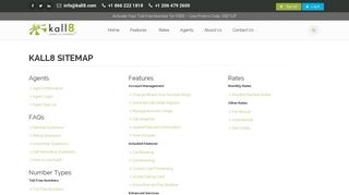 Kall8 : Vanity, 1 800 Numbers, & Toll Free Phone Services - Site Map
