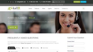 Kall8 : Vanity, 1 800 Numbers, & Toll Free Phone Services - Kall8 FAQs