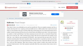 Kall8.com - Fraud Charges, Review 259019 | Complaints Board