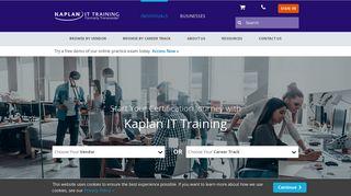 Kaplan IT Training (formerly Transcender) - IT Certification Exam Prep