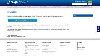Kaplan Online Course Log In