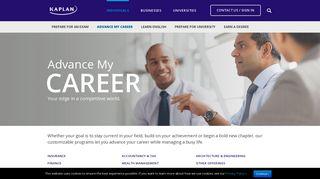 Advance My Career - Kaplan