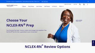 NCLEX Review and Nursing Test Prep   Kaplan Test Prep