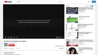 NCLEX test strategies from Kaplan - YouTube