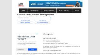 Karnataka Bank Net Banking Process - EzeeBank