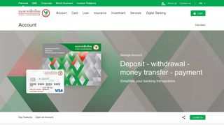 Savings Account - KASIKORNBANK