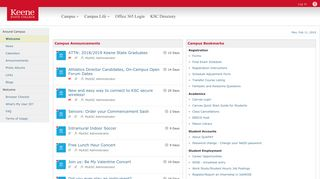 Keene State College @ Campus>General>Welcome - CampusCruiser