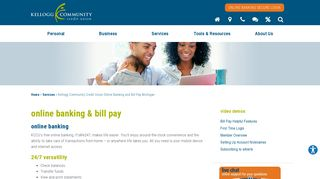Kellogg Community Credit Union Online Banking and Bill Pay ...