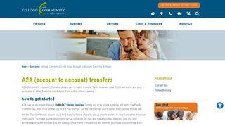 Kellogg Community Credit Union Account to Account Transfers ...