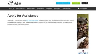 Apply for Assistance - KidSport