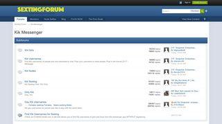 Kik Messenger - Sexting Forum