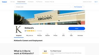 Kirkland's Careers and Employment | Indeed.com