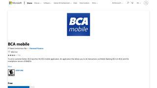 Get BCA mobile - Microsoft Store