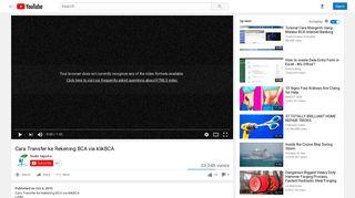 Cara Transfer ke Rekening BCA via klikBCA - YouTube