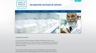 Customer Services - Kohl & Frisch: Your One Solution