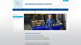 Careers - Kohl & Frisch: Your One Solution