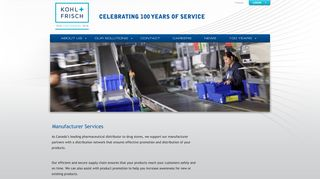 Manufacturer Services - Kohl & Frisch: Your One Solution