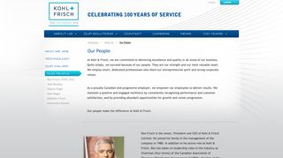 Our People - Kohl & Frisch: Your One Solution