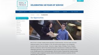 Our Opportunities - Kohl & Frisch: Your One Solution