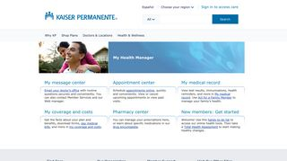 My Health Manager: Get Wellness and Coverage Information - Kaiser ...