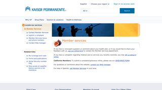 Member Services - Kaiser Permanente