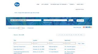 Kroger Online Application Login Jobs - Kroger Jobs
