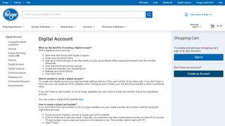 Digital Account - Kroger