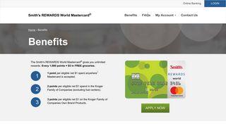 Smith's REWARDS World Mastercard®   Rewards Card Benefits