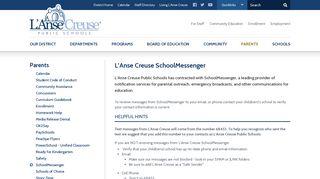 SchoolMessenger - Parents - L'Anse Creuse Public Schools