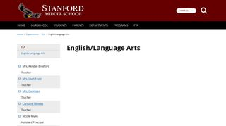 English/Language Arts - Stanford Middle School - School Loop
