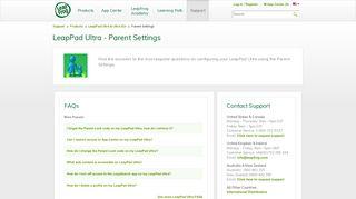 LeapPad Ultra Parent Setting FAQ | LeapFrog