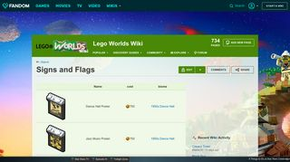 Signs and Flags | Lego Worlds Wiki | FANDOM powered by Wikia