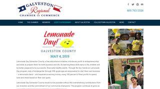 Lemonade Day Galveston County - Galveston Chamber of Commerce