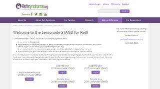 Make a Difference - Fundraisers - Lemonade STAND for Rett ...