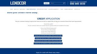 Credit Application - Lendcor