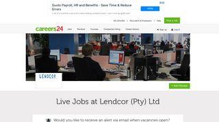 Lendcor (Pty) Ltd Jobs and Vacancies - Careers24