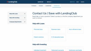 Contact Us | Save with LendingClub