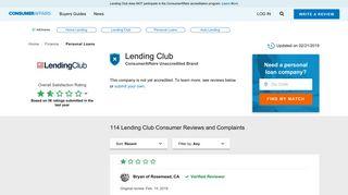 Top 105 Reviews and Complaints about Lending Club